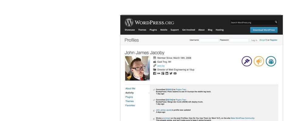 BuddyPress screenshot 0