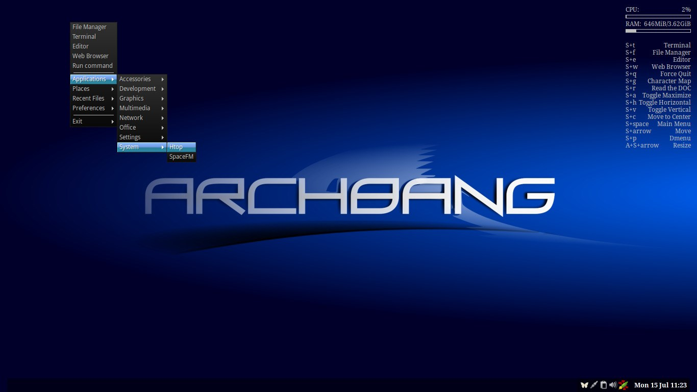 ArchBang screenshot 0