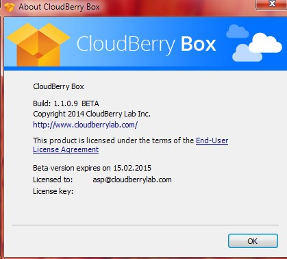 CloudBerry Box screenshot 0