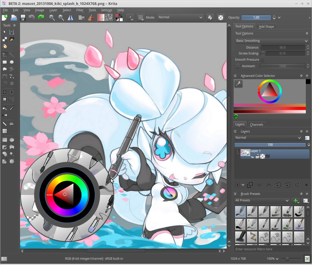 Krita screenshot 0