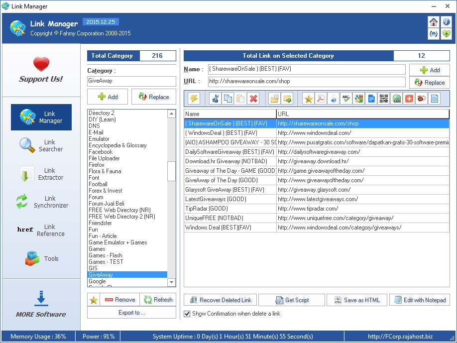 FCorp Link Manager screenshot 0