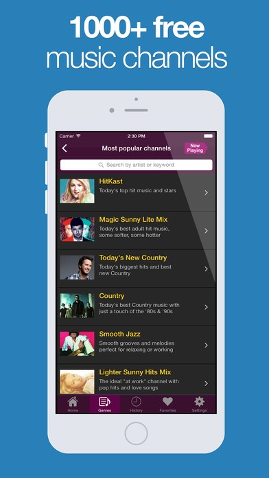 AccuRadio screenshot 2