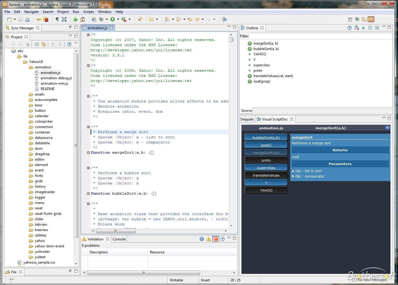 Aptana Studio screenshot 2
