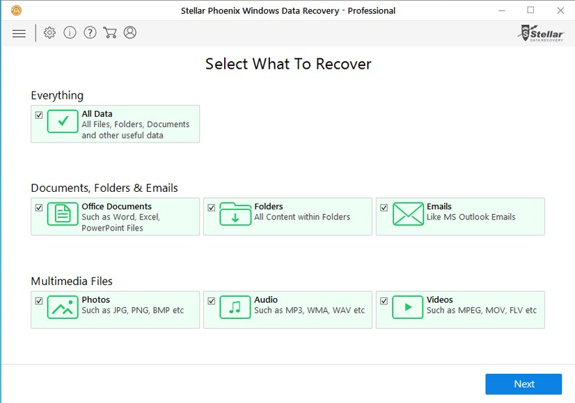 Stellar Phoenix Windows Data Recovery screenshot 0