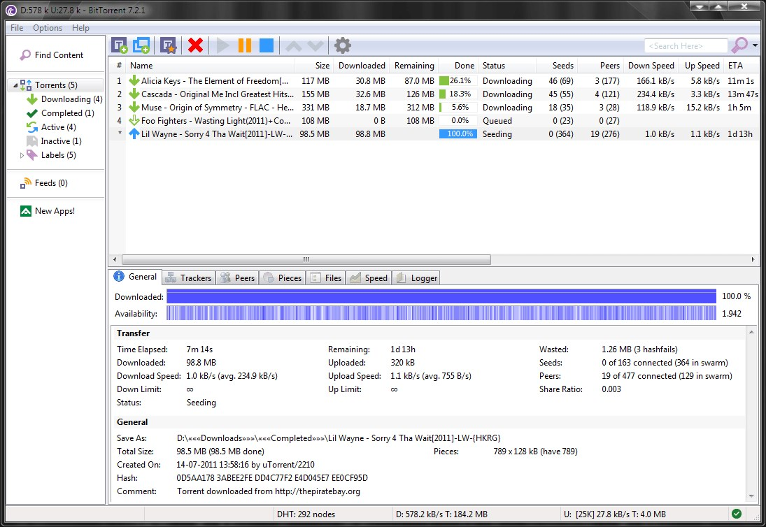 BitTorrent screenshot 0