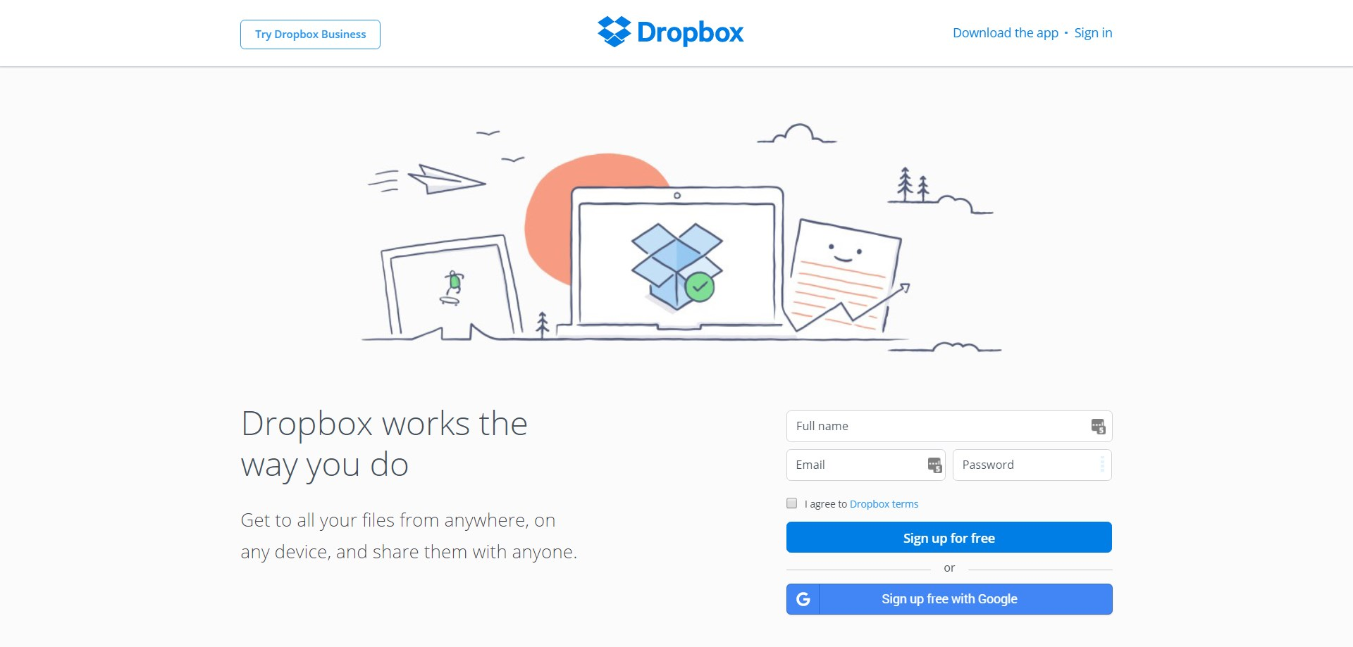 Dropbox screenshot 0