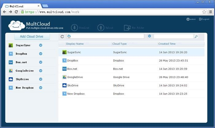 MultCloud screenshot 0