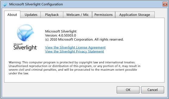 Microsoft Silverlight screenshot 1