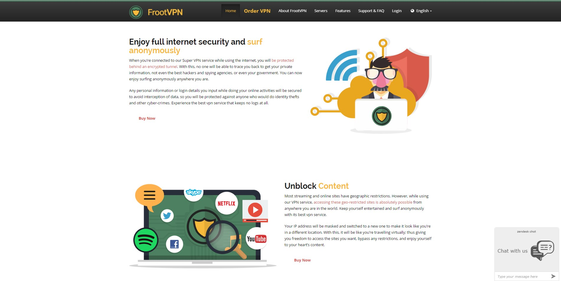 FrootVPN screenshot 1
