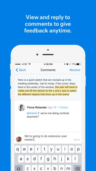 Dropbox Paper screenshot 2
