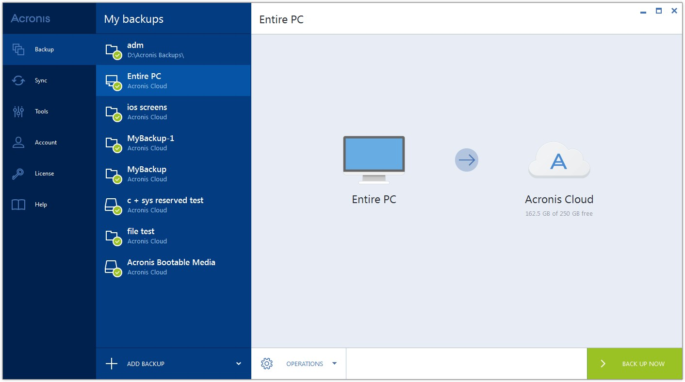 Acronis True Image screenshot 0