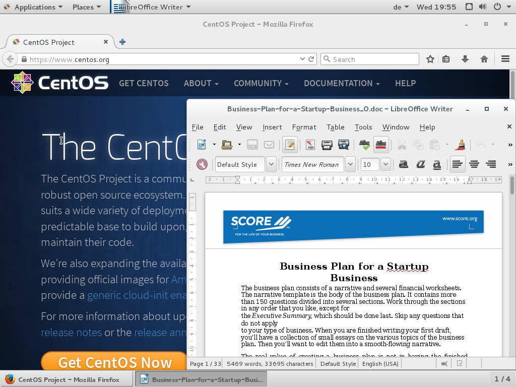 CentOS screenshot 2
