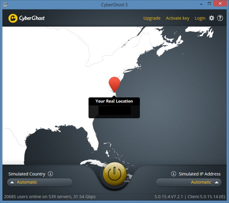 CyberGhost VPN screenshot 1