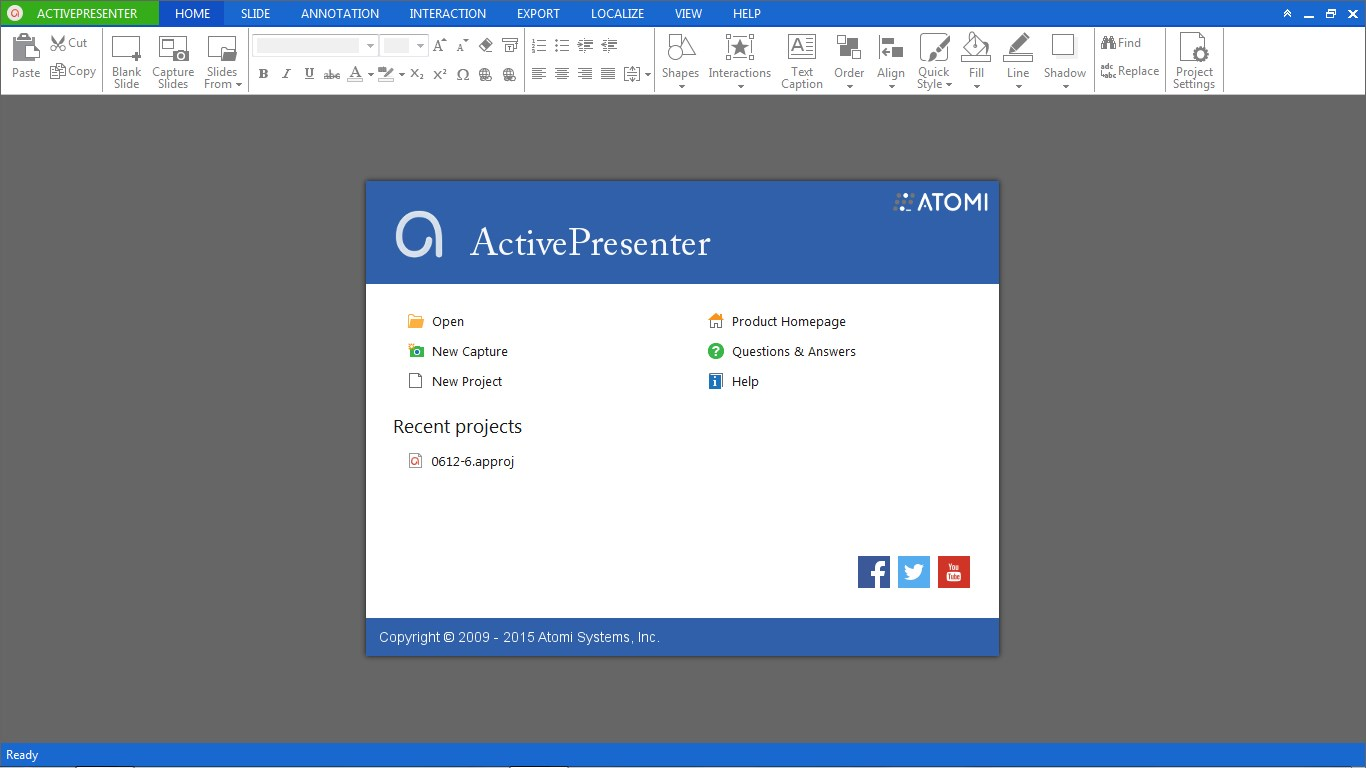 ActivePresenter screenshot 0