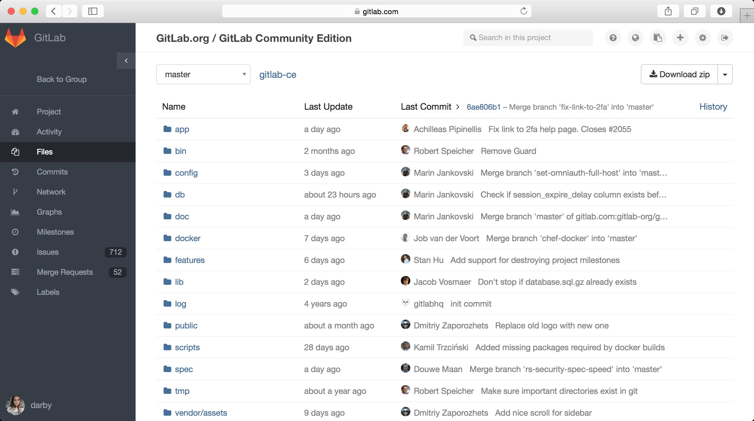 GitLab screenshot 1