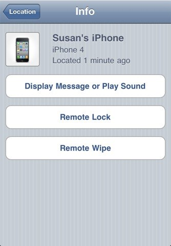 Find My iPhone screenshot 2
