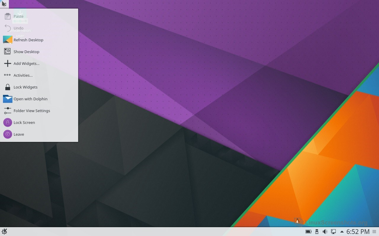 KDE neon screenshot 2