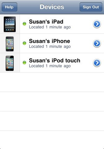Find My iPhone screenshot 1