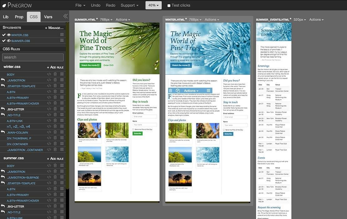 Pinegrow Web Editor screenshot 2