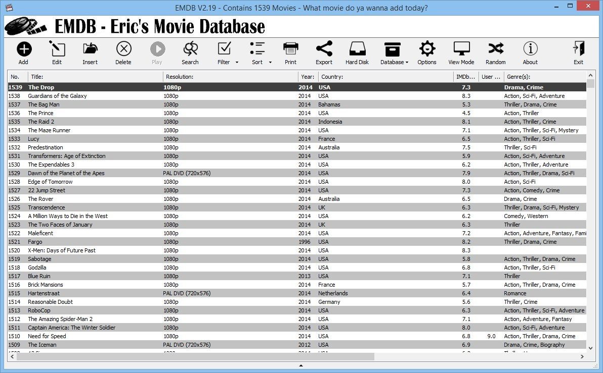 EMDB - Eric's Movie Database screenshot 1