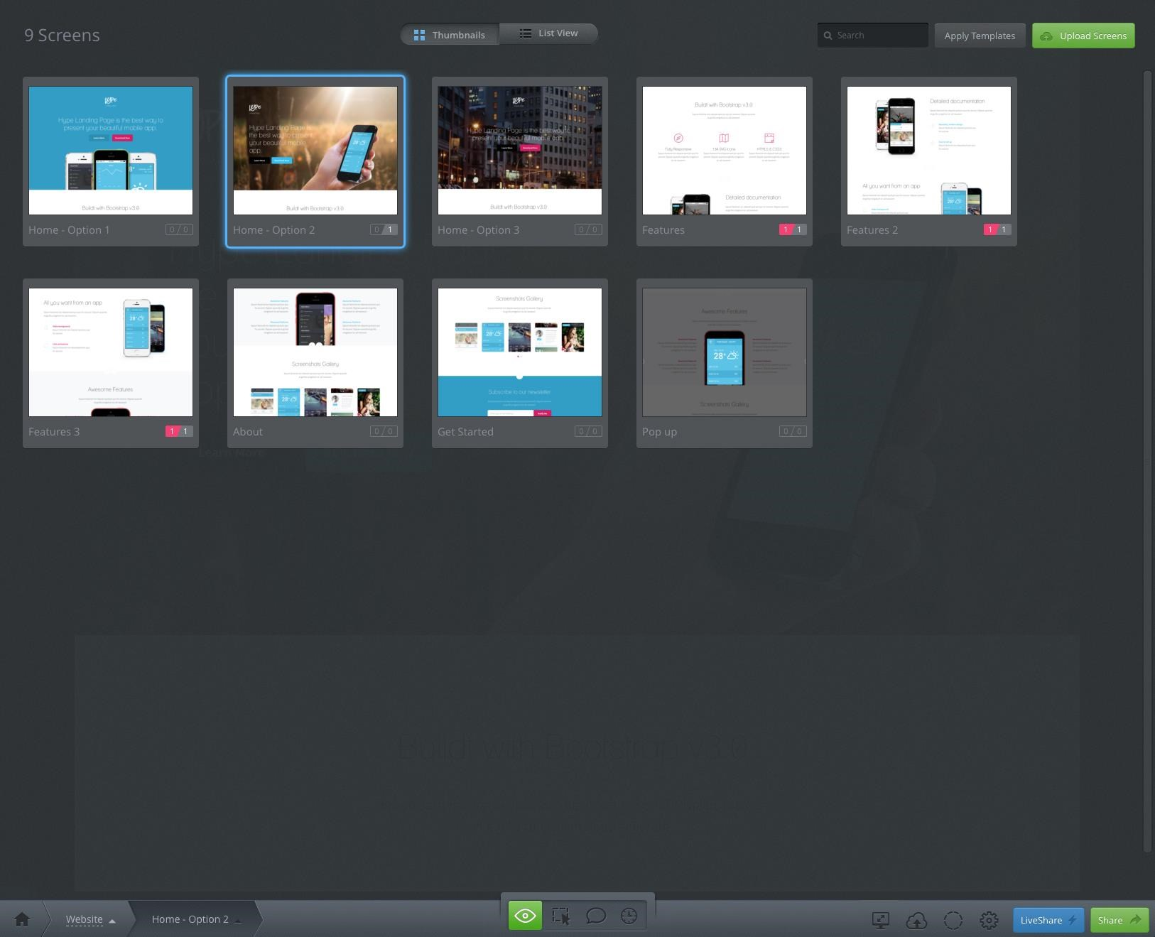 InVision screenshot 2