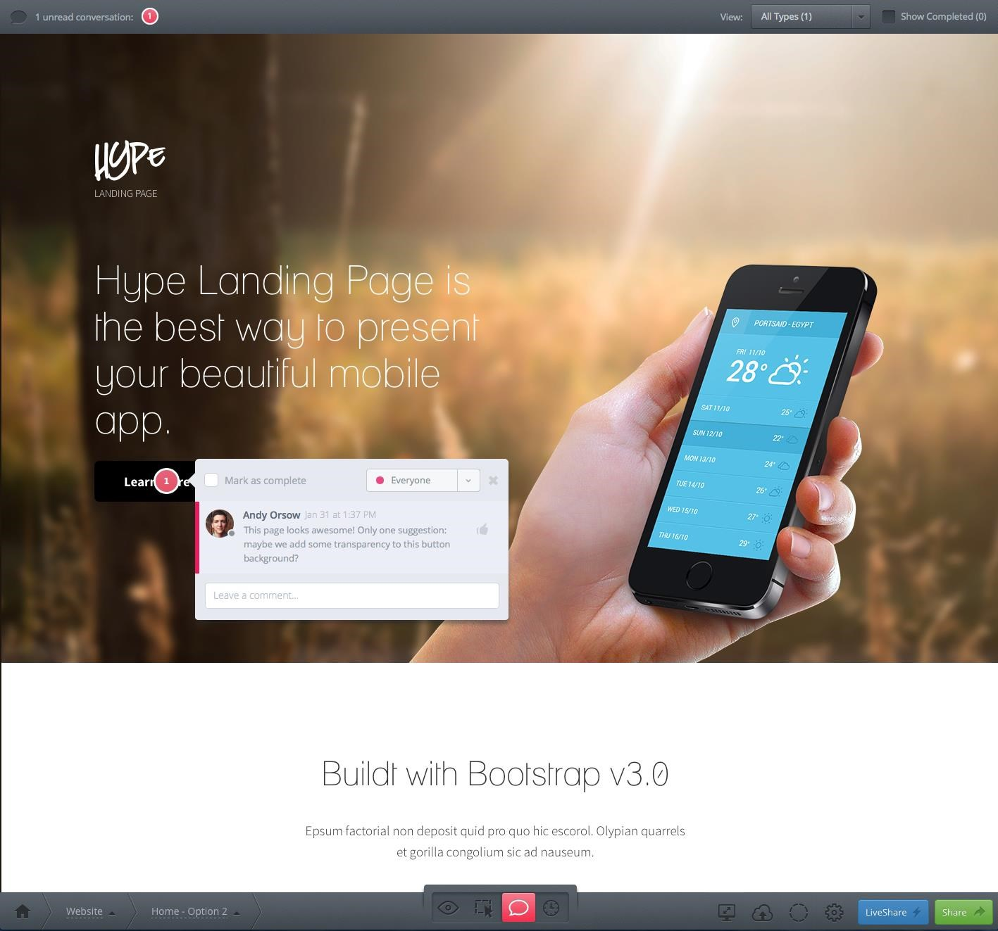 InVision screenshot 0