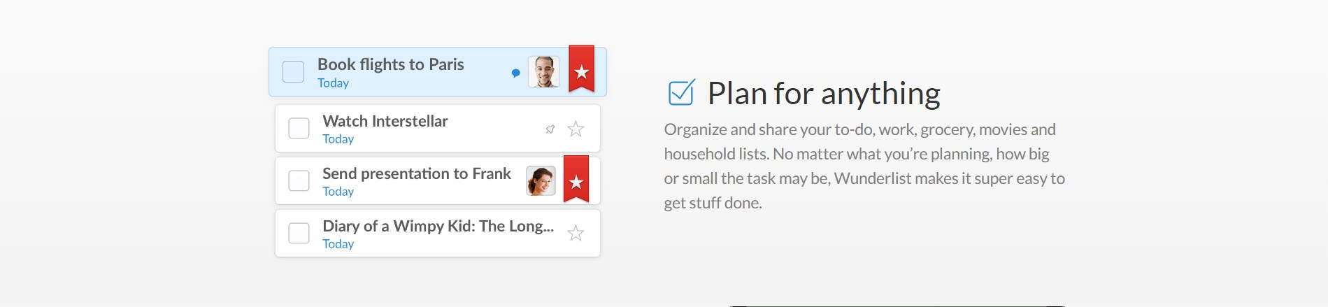 Wunderlist screenshot 1