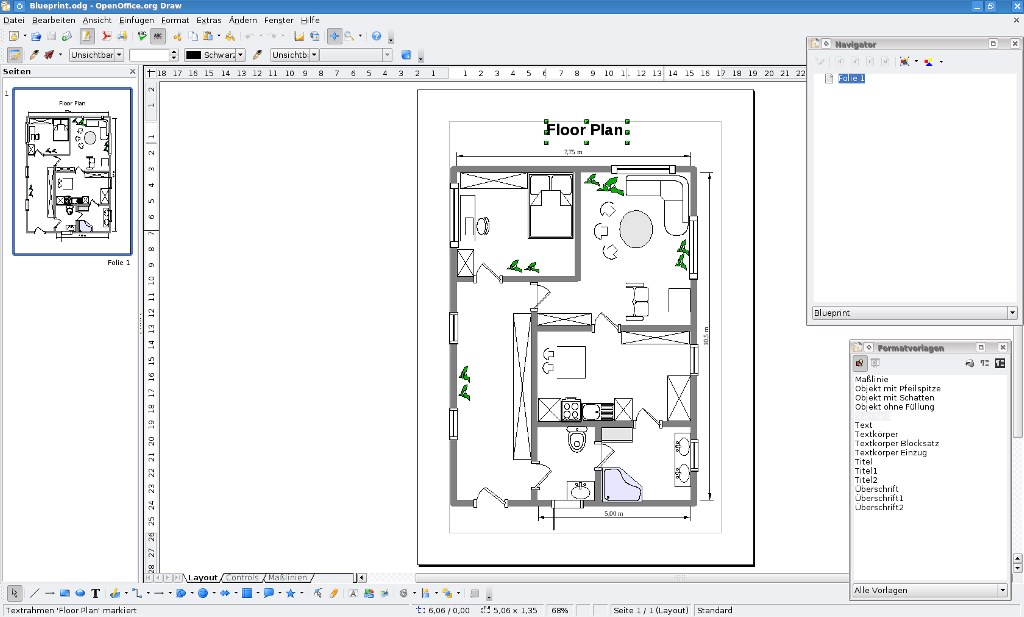 Apache OpenOffice Draw screenshot 0