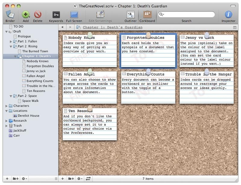 Scrivener screenshot 0