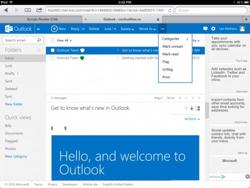 Outlook.com screenshot 0