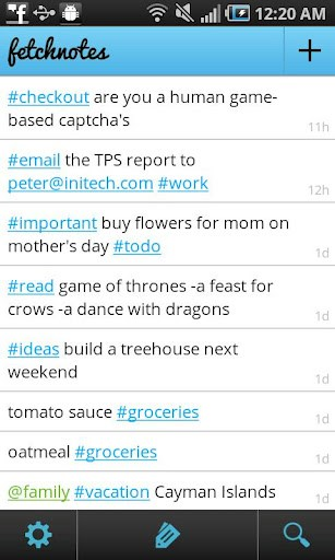 Fetchnotes screenshot 1