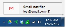 Gmail Notifier (restartless) screenshot 1