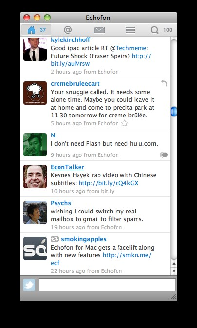 Echofon for Twitter screenshot 0