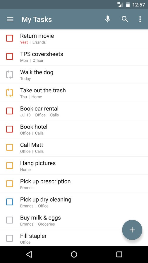 Tasks screenshot 1