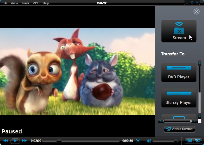 DivX screenshot 1