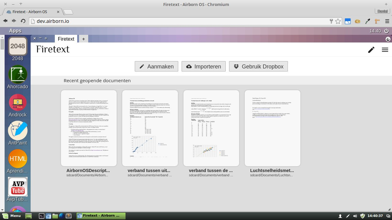 Airborn OS screenshot 0
