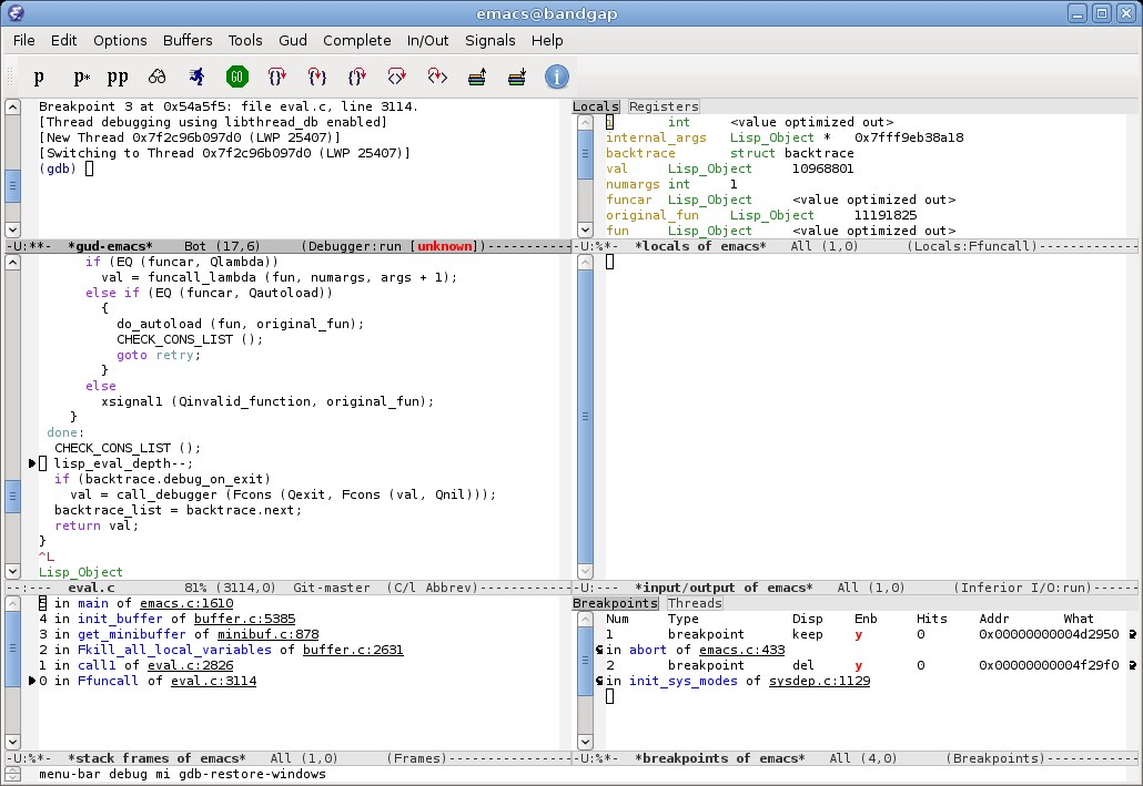 GNU Emacs screenshot 2