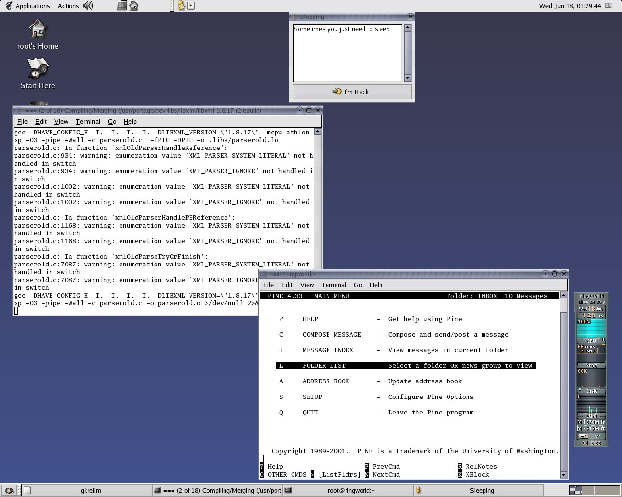 Gentoo screenshot 2