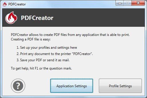 PDFCreator screenshot 1