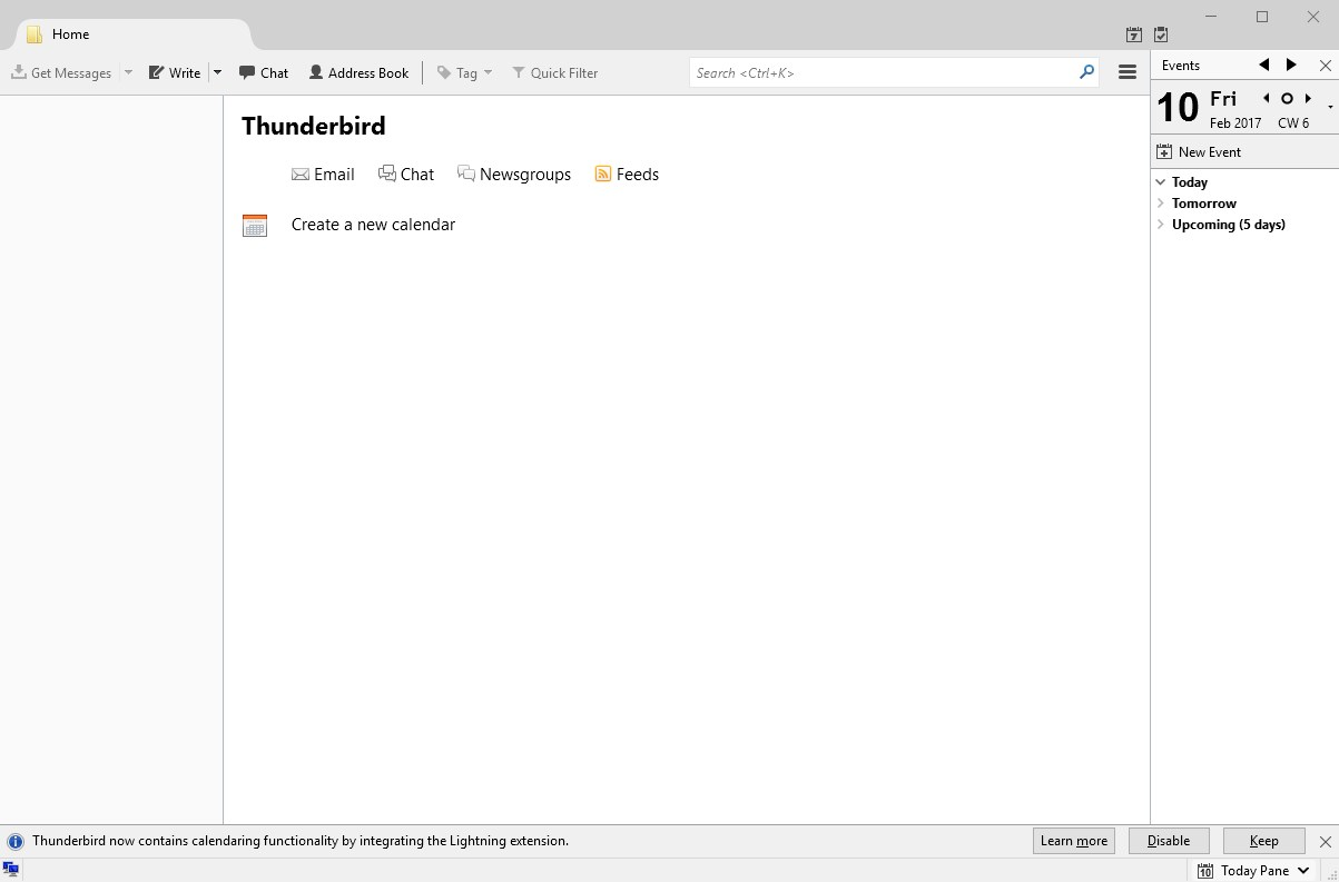 Thunderbird screenshot 0