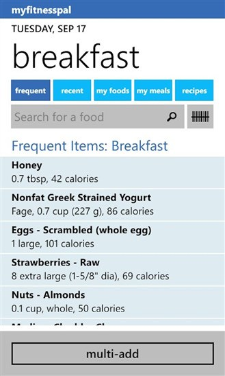 MyFitnessPal screenshot 0