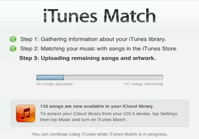 iTunes Match screenshot 1