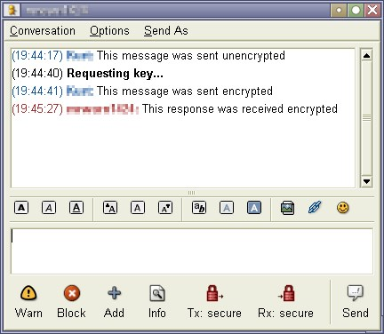 Pidgin-Encryption screenshot 0