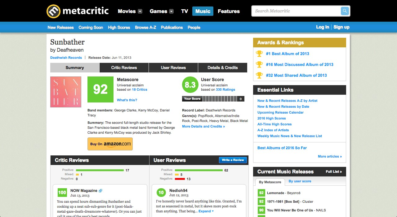 Metacritic screenshot 2