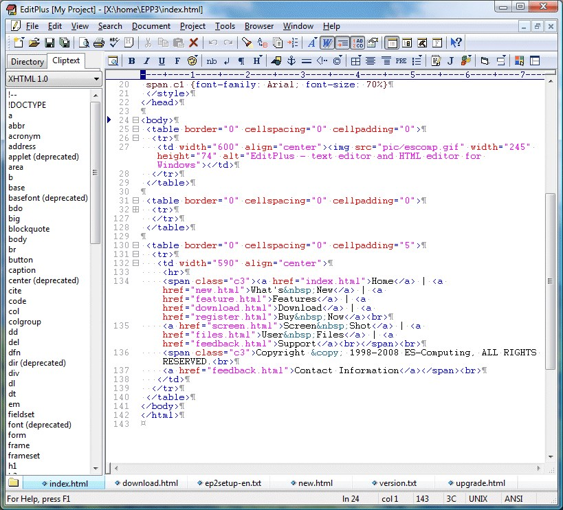 EditPlus screenshot 0