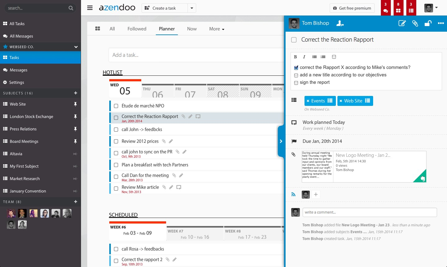 Azendoo screenshot 1