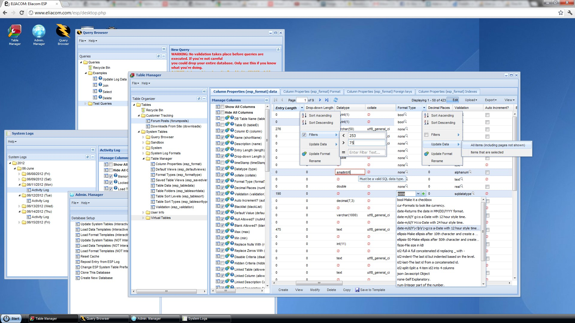 Enhanced SQL Portal (ESP) screenshot 0