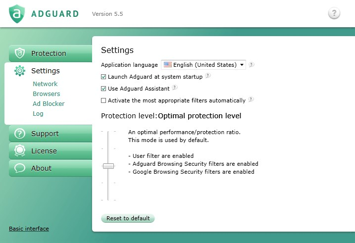 Adguard screenshot 2