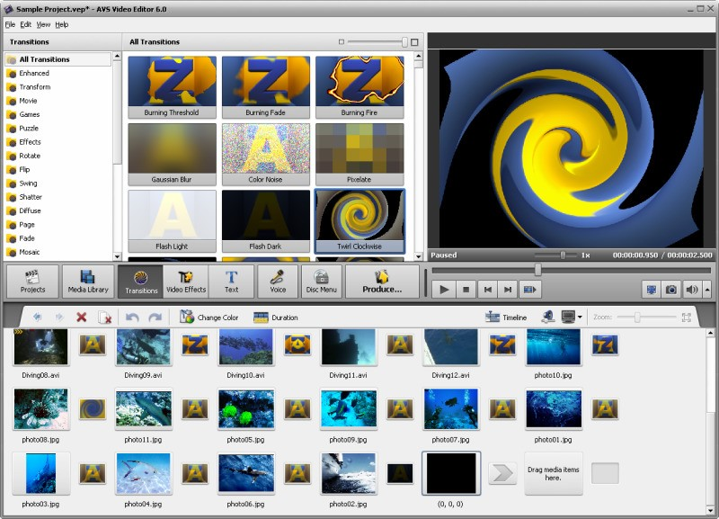 AVS Video Editor screenshot 1