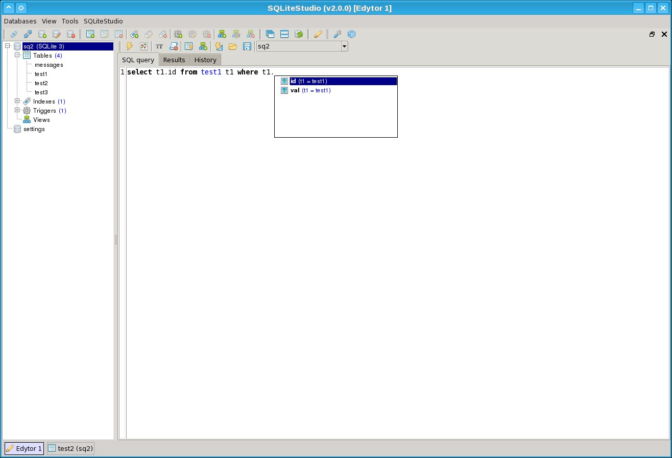 SQLiteStudio screenshot 2